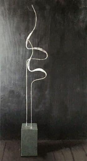 Kraanvogels op sokkel van Arduin, hoogte 160 cm<br /> verkocht